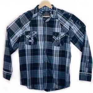 Men's Roar Embroidered Button Down Shirt